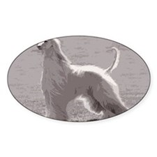 Afghan Hound Standing Decal