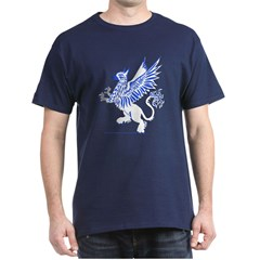 Graphic Gryphon Blue / White T-Shirt
