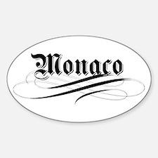 Monaco Gothic Oval Decal