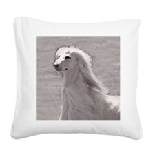 Afghan Hound Square Canvas Pillow