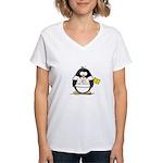 New Mexico Penguin Women's V-Neck T-Shirt