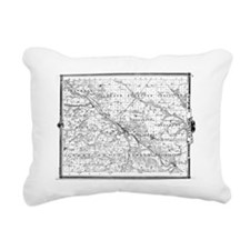 1875 Wapello County Map Rectangular Canvas Pillow