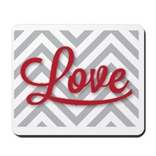 Love in red Mousepad
