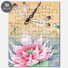 Lotus Dragonfly Art Puzzle