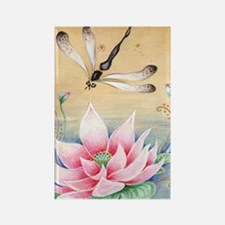 Lotus Dragonfly Art Rectangle Magnet