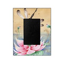 Lotus Dragonfly Art Picture Frame