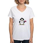 Tennessee Penguin Women's V-Neck T-Shirt