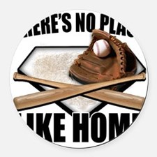 NoPlaceLikeHome copy Round Car Magnet