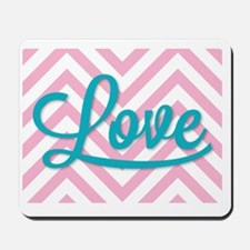 Love in tourquoise Mousepad