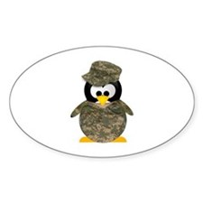 Army Penguin Oval Decal
