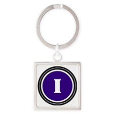 Purple I Square Keychain