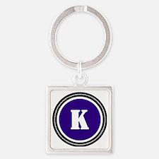 Purple K Square Keychain