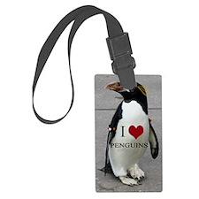 I Love Penguins Luggage Tag