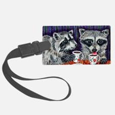 Raccoons at the Cafe Luggage Tag