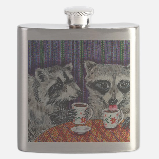 Raccoons at the Cafe Flask