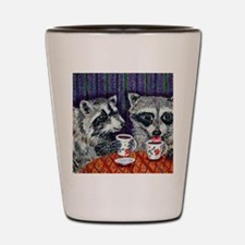 Raccoons at the Cafe Shot Glass