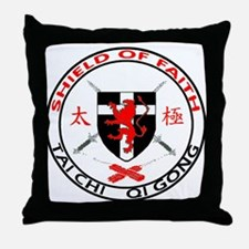 Shield of Faith Tai Chi Throw Pillow