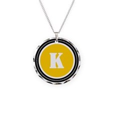 Yellow K Necklace