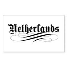 Netherlands Gothic Rectangle Decal