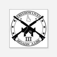 "Freedom Lives ID Square Sticker 3"" x 3"""
