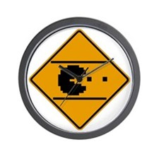 Classic arcade street crossing sign Wall Clock