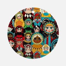 Matryoshka Round Ornament