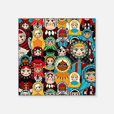 "Matryoshka Square Sticker 3"" x 3"""