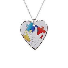Deaf Autism Logo Necklace