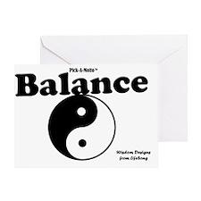 balance1poster Greeting Card