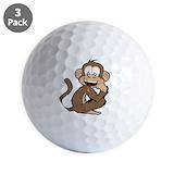 Monkey Golf Balls