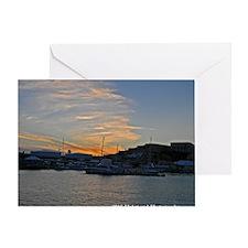Dockyard Sunset Greeting Card