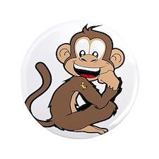 """cheeky Monkey 3.5"""" Button"""