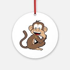 cheeky Monkey Round Ornament