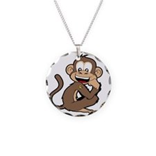 cheeky Monkey Necklace Circle Charm