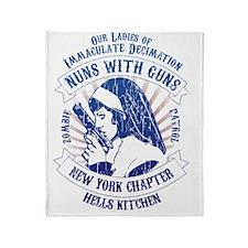 Nuns with Guns Throw Blanket