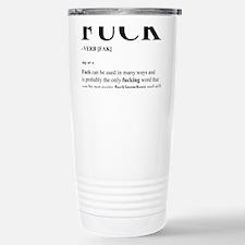 Fuck Stainless Steel Travel Mug