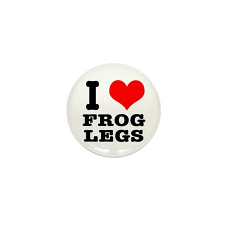 I Heart (Love) Frog Legs Mini Button (100 pack)