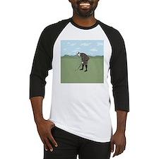 Vintage Style Golfer putting Baseball Jersey