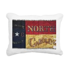 NC Flag Faded Rectangular Canvas Pillow