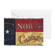 NC Flag Faded Greeting Card