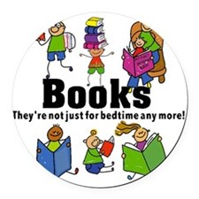 Books Bedtime Round Car Magnet