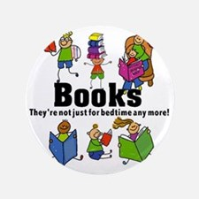 "Books Bedtime 3.5"" Button"