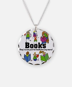 Books Bedtime Necklace Circle Charm