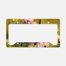 Butterfly Proverb License Plate Holder