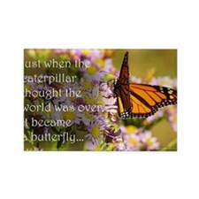 Butterfly Proverb Rectangle Magnet