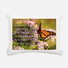 Butterfly Proverb Rectangular Canvas Pillow