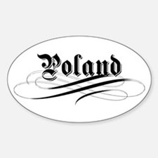 Poland Gothic Oval Decal