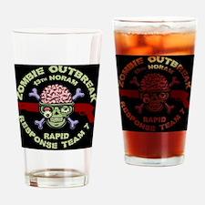 brainskull-zombie-PLLO Drinking Glass