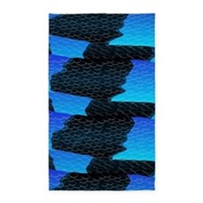 Blue Sea Snake Pattern S 3'x5' Area Rug