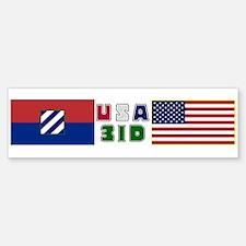 USA-3ID Bumper Bumper Bumper Sticker
